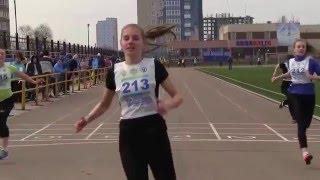 Олимпиада школьников по физкультуре. Ульяновск. Бег 100 метров девушки.