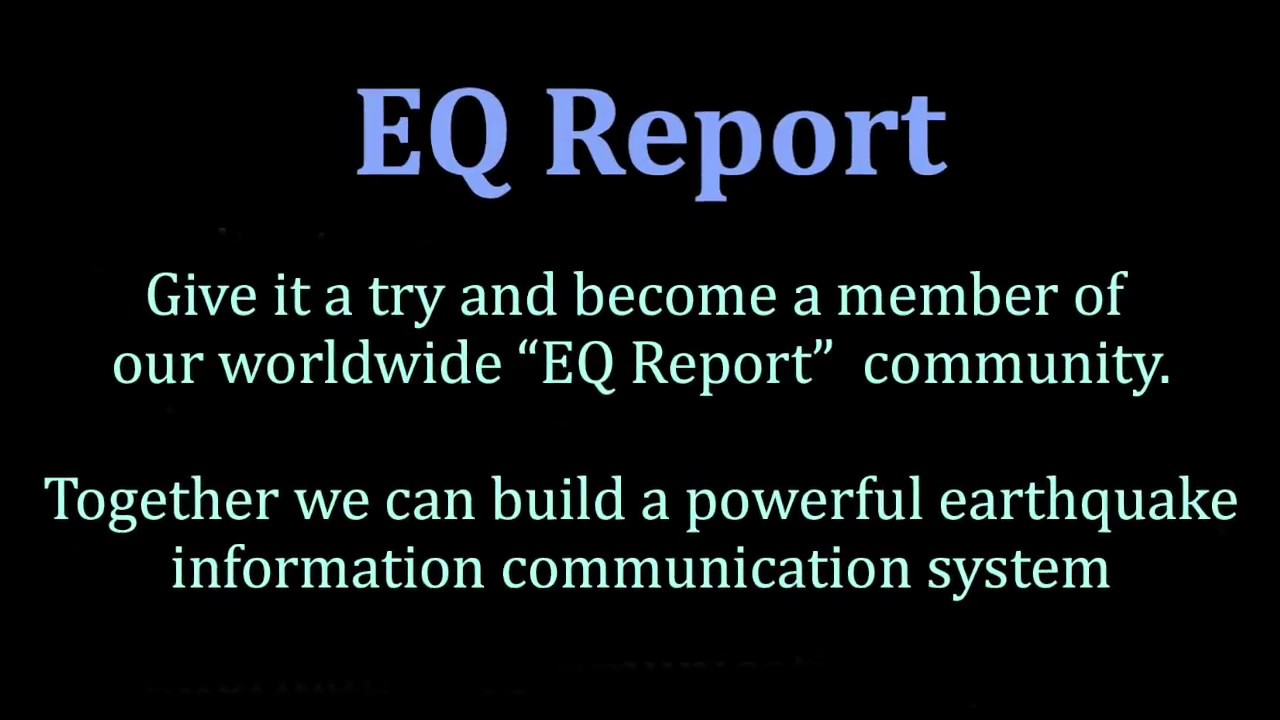 EQ Report Earthquake Information Apps