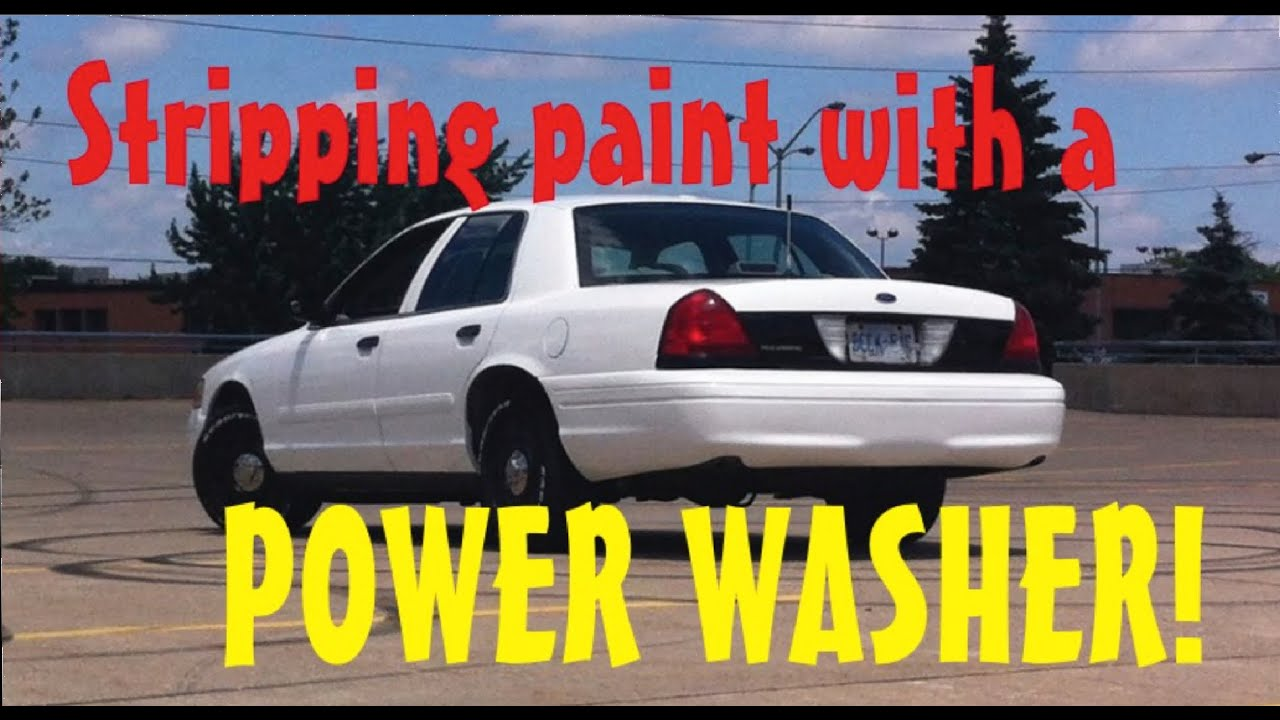 Stripping Car Paint With Pressure Washer