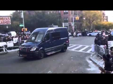 Obama Comes Up Kingston Ave In Crown Heights Brooklyn