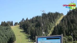 Installation par hélicoptère du télésiège de la Mauselaine