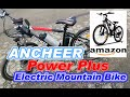 Electric Mountain Bike - ANCHEER Power Plus Electric Mountain Bike Shimano 21 Speed Shifter