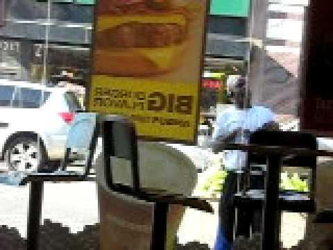 Dancing crackhead outside of McDonalds ... o.O