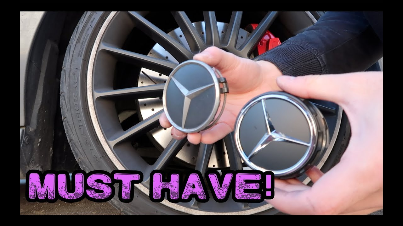 3863af6c3a2 New Mercedes Wheels Centre Caps!  INSTALLATION  - YouTube