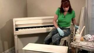 How-to Faux Paint Antique Distressed Furniture Faux Finish And Paint Technique