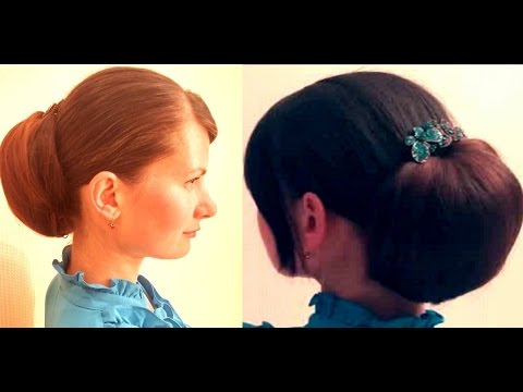 прическа с валиком на короткие волосы