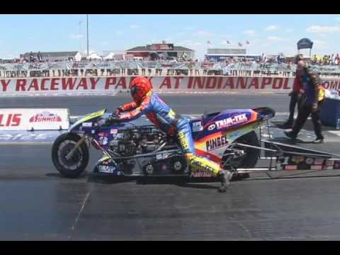 Motorcycle Drag Racing 2008 AMA DRAGBIKE Thunder Nationals Indy Top Fuel Runs