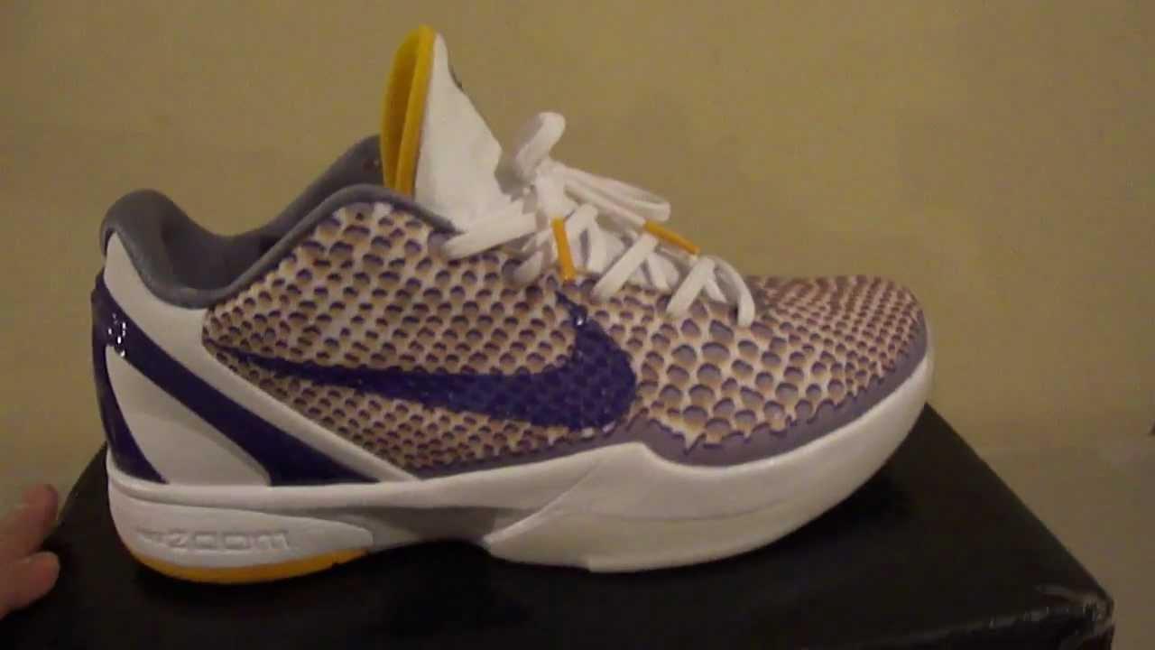 quality design 2517f b50ba Nike Zoom Kobe VI 3D Lakers Home Jordan 1999 Cement 4 2000 Infrared 6 -  YouTube