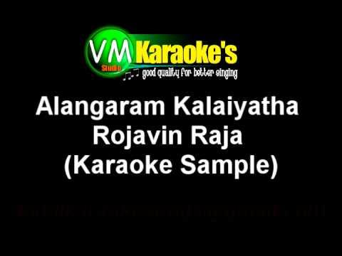 Alangaram Kalayatha Rojavin Raja Tamil Karaoke Song