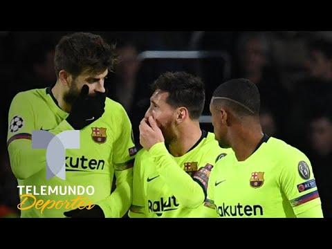 Messi descubre la 'mentira' de Piqué sobre el gol en la Champions League | Telemundo Deportes