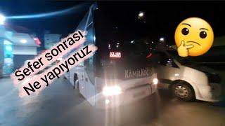 Şehirler Arası Otobüs Şoförü Sefer sonrası Ne Yapar (Neoplan YouTube Bus Vlog)