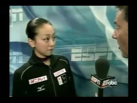 浅田真央 インタビュー 世界選手権 2008 ESPN