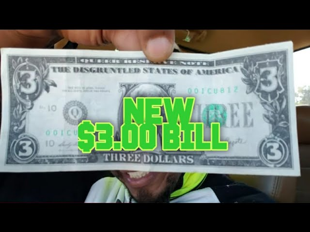 The New 3 Dollar Bill‼️#Money #3dollarbill #USD #Currency