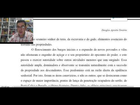 Aula 12- ALAGOAS COLONIAL 1 - Estudo artigo Prof. Douglas Apratto Tenório