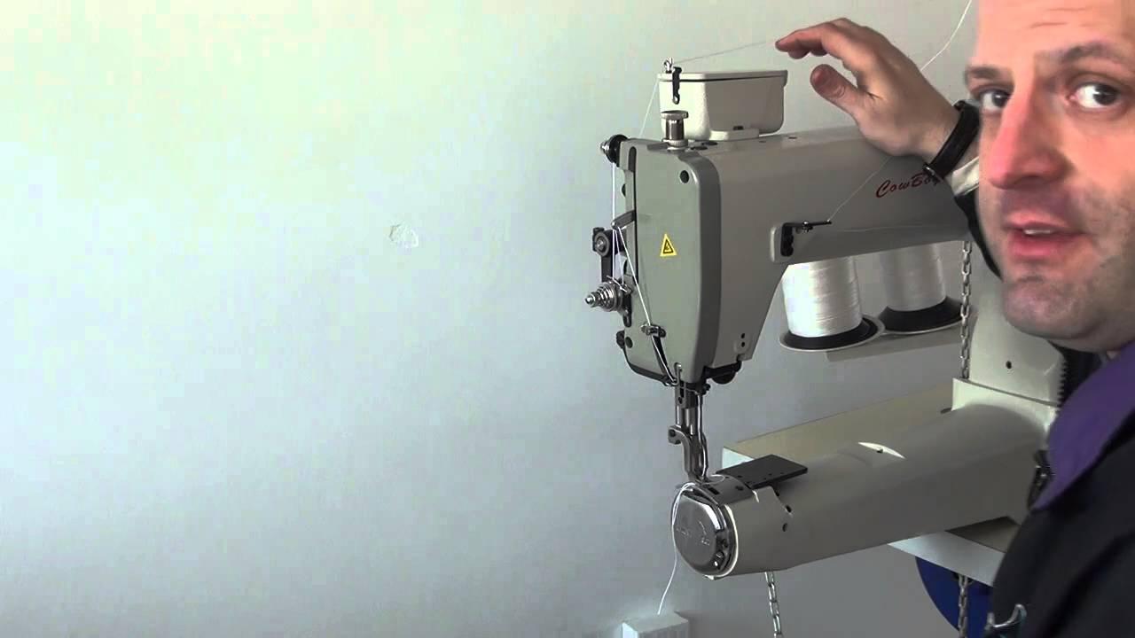 machine coudre pour l 39 industrie du cuir et sangles youtube. Black Bedroom Furniture Sets. Home Design Ideas