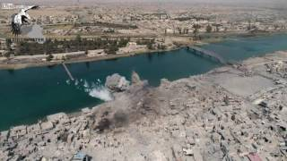 DRONE FILMS US JDAM BOMB STRIKE IN MOSUL