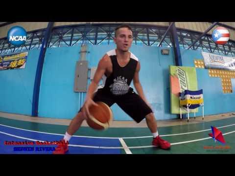 NCAA D-1 Players - KJ Maura UMBC - Angel Rivera SU - Intensive Basketball Tuff Workout
