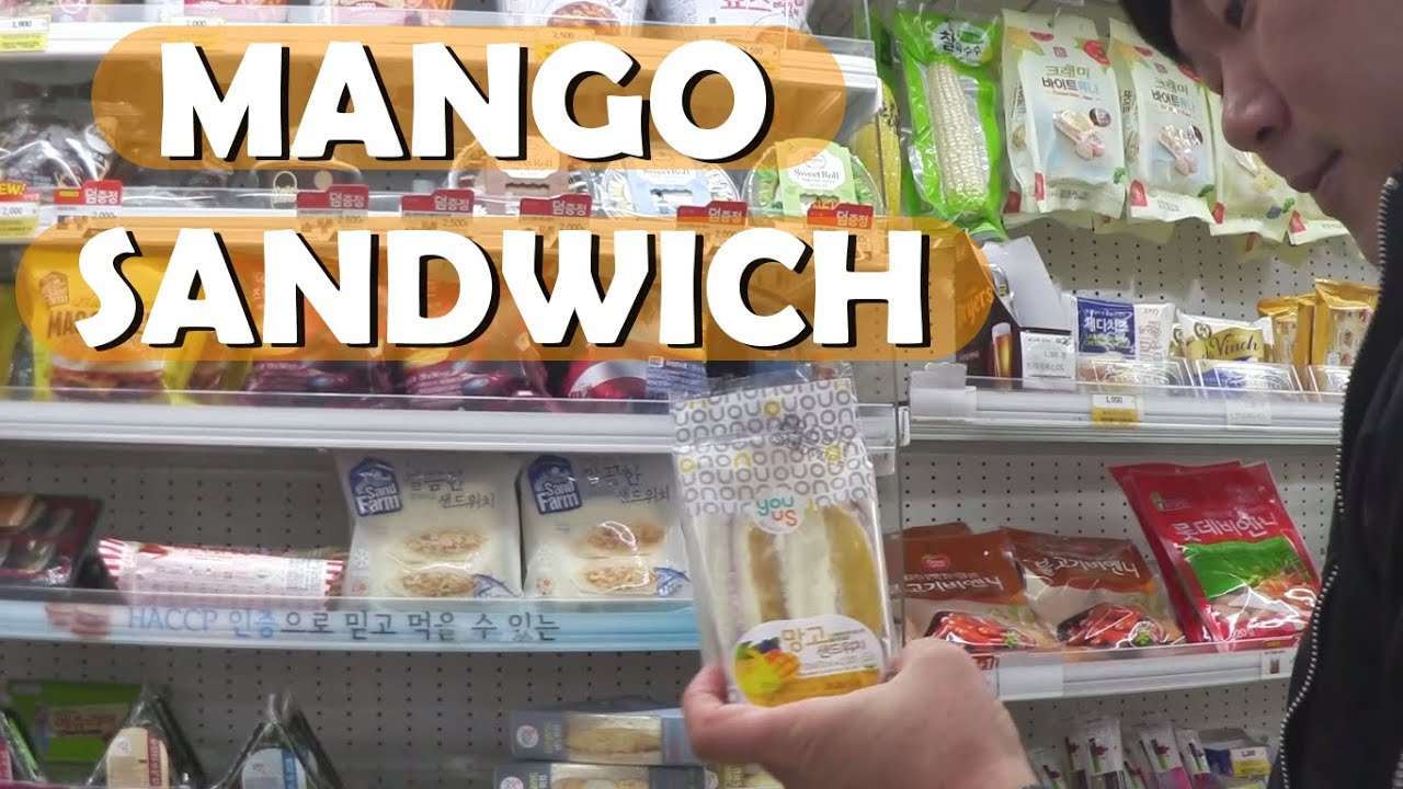 Korean Convenience Store Mango Sandwich