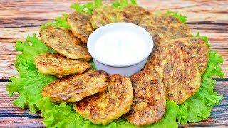 Полезная вкуснятина - кабачковые оладьи в духовке с мясом