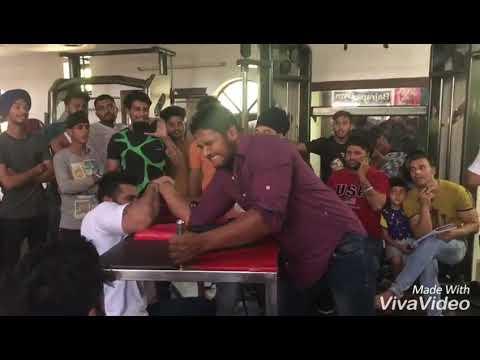 Gulab singh arm wrestling at haryana state