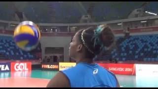#FIVBGrandPrix - Miriam Sylla giochicchia