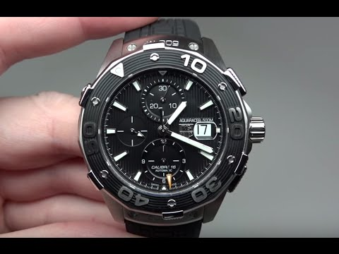 Tag heuer aquaracer diver 500m men 39 s watch model caj2110 ft6023 youtube for Tag heuer divers watch