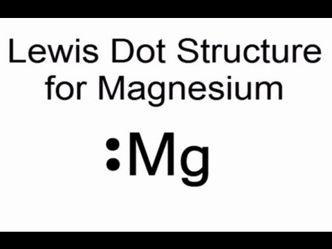 Lewis Dot Structure For Magnesium Mg Youtube