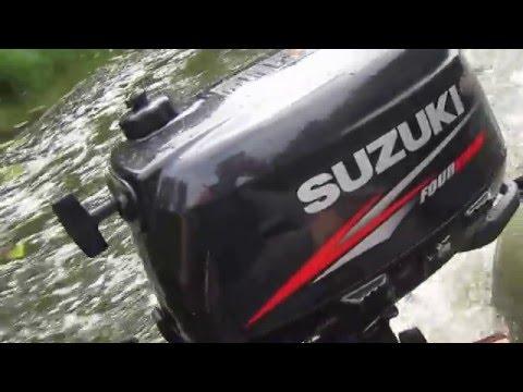 Лодочный мотор четырехтактный Suzuki DF5S, лодка Pelican 299TK