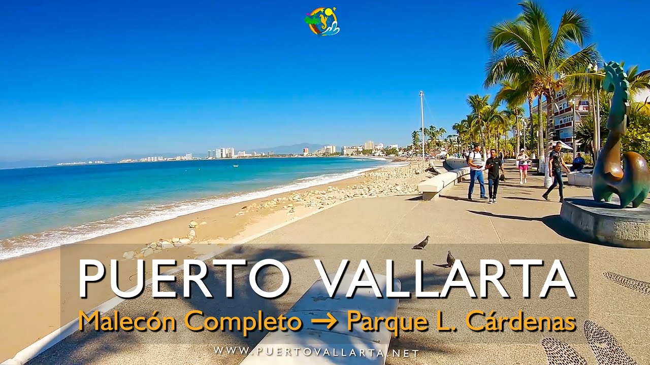 Malecón de Puerto Vallarta, completo ida y vuelta, Malecón 2 a Parque Lázaro Cárdenas Zona Romántica