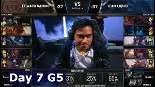 EDG vs TL | Day 7 Group C Decider S8 LoL Worlds 2018 | Team Liquid vs Edward Gaming