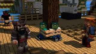 PIRATES INVADE MARK THE FRIENDLY ZOMBIE HOUSE IN MINECRAFT !!