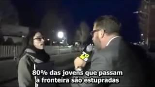 Embaixada da resistência - Repórter entrevista feminista em protesto contra o Trump