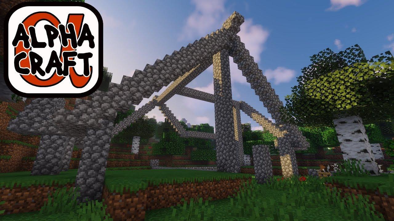 Framing The Starter/Miner's House! : Alphacraft Season 2 Lp Ep #3 Minecraft  1 14 4