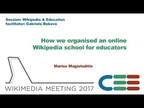 How we organised an online Wikipedia school for educators – Marios Magioladitis