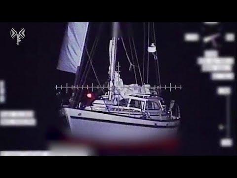 תיעוד חילוץ אזרח צרפתי שנסחף לרצועת עזה