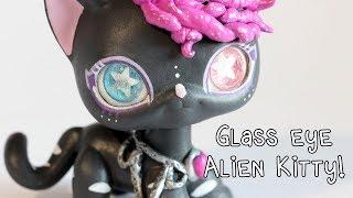 Glass Eye LPS Custom: Alien Kitty!