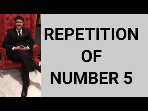 Repeat Repetition of no 5 in date of birth | Numbers Can Change Your