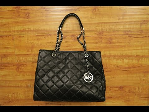 53da1181dd36 MICHAEL Michael Kors Susannah Large Shoulder Tote - YouTube