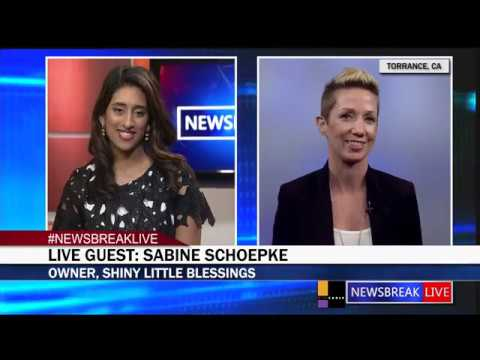 NEWSBREAK LIVE GUEST: Sabine Schoepke talks bout her jewelry line Shiny Little Blessings