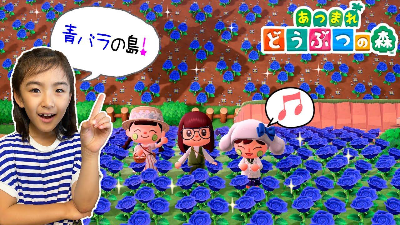 青バラだらけ〜!お花だいすきなお友達の島へおでかけ♪あちゃぴのあつ森#5