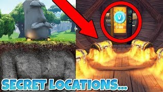 Top 5 Unknown Hiding Spots You Don't Know About In Fortnite! (SEASON 5) Fortnite 5 SECRET ROOMS!