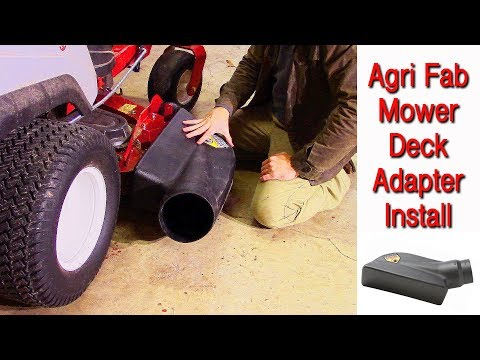 How To Install A Mower Deck Adapter Without A Template (Agri-Fab Mow N Vac EXmark Quest S 50 Inch)
