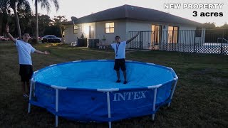 My 12ft POOL POND on *NEW* PROPERTY!!!