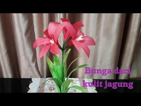 Tutorial Bunga Amarilis Kulit Jagung Cornhuskflower Bunga Diy Kulitjagung Klobot Flower Youtube