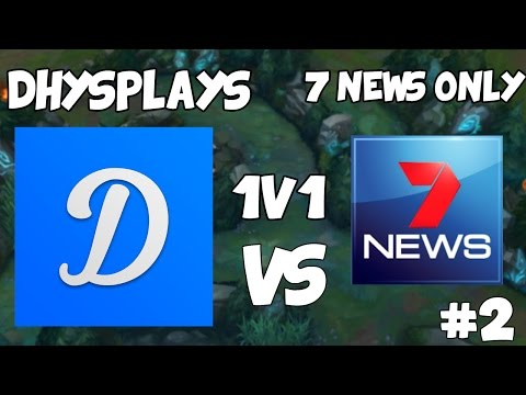 DhysPlays VS 7 NEWS ONLY | 1v1 With Friends! #3 | League Of Legends