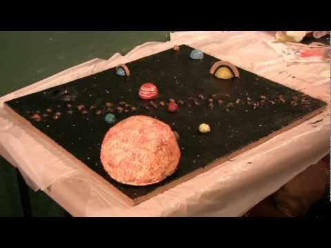 Solar system model to make at home
