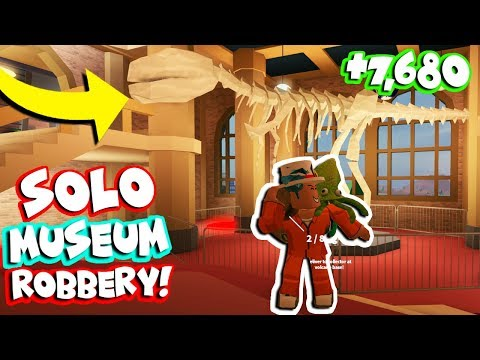 ROBBING MUSEUM WITH ONLY ONE PLAYER! *INFINITE CASH* (Roblox Jailbreak)