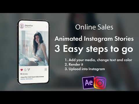 Online Sales After Effects Template