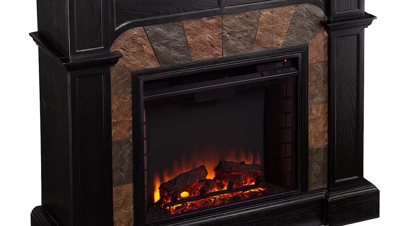 fe9288 cartwright convertible electric fireplace ebony youtube