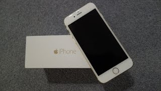 iPhone 6 Unboxing & First Look! 64GB in Gold with iOS 8!